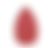 1 pendentif forme feuille - simili cuir - rouge