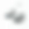 Lot de 10 embouts griffes demi lune - argenté - 25 mm