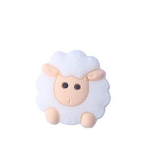 1 perle en silicone - mouton - rose
