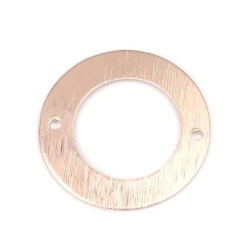 1 connecteur rond - couleur métal doré rose