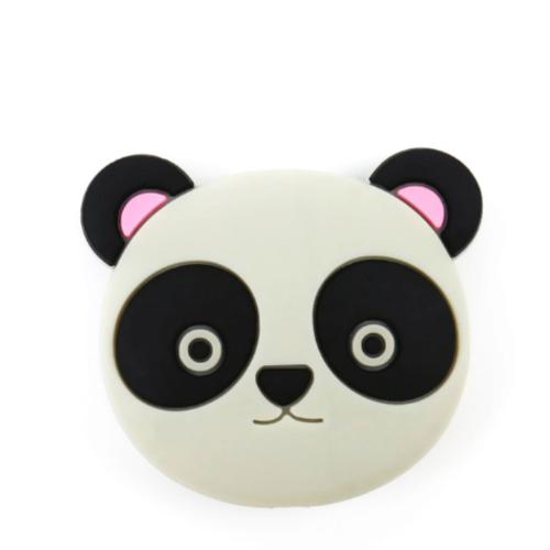Rose Panda en silicone de 91 x 74 x 8 mm Blanc