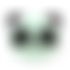 1 perle en silicone - panda - vert