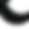 Lot de 100 perles heishi - rondelles en pâte polymère - 6 mm - noir