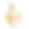 1 breloque pendentif - chat doré - acier inoxydable
