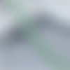Ruban en dentelle fine - petites fleurs - 26 mm - verte -  vendu au mètre