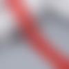 Ruban en dentelle fine - petites fleurs - 26 mm - rouge -  vendu au mètre