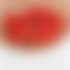 1  breloque pompon fausse fourrure - orange