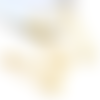 1 épingle - support broche à customiser doré - 5 cm