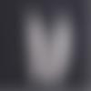 1 marque page plume en métal couleur argenté à customiser