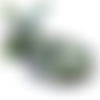 Lot de 10 perles agate tons vert - 6 mm - p1112