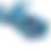 Lot de 10 perles agate tons bleu - 6 mm - ref- p-1074