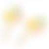 1 breloque pendentif ballon - coeur - métal doré