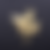 1 breloque pendentif - libellule doré - acier inoxydable