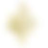 1 breloque pendentif - arbre de vie doré - acier inoxydable