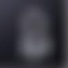 1 breloque pendentif - attrape rêve - coeur  argenté - acier inoxydable