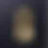 1 breloque pendentif - attrape rêve - coeur doré - acier inoxydable