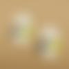 1 breloque pendentif panda émaillé - doré