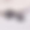 1 connecteur pendentif - rosace - filigrane - laser cut - noir