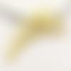 1 pendentif - grande aile - filigrane - doré