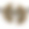 1 pendentif - fantaisie - demi lune - filigrane - couleur bronze