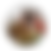 1 cabochon en verre - 25 mm - le chien baroudeur