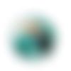 1 cabochon en verre - 25 mm - toucan