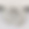 1 pendentif - fantaisie - demi lune - filigrane - couleur argenté