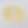 1 pendentif - fantaisie - demi lune - filigrane - couleur doré
