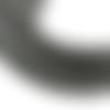 Lot de 100 perles heishi - rondelles en pâte polymère - 4 mm - gris