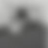 1 fermoir porte clés mousqueton - couleur argenté - 35 x 21 mm