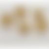 10 perles coupelles - calottes - métal doré