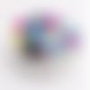 Lot de 50 perles en silicones - 12 mm - multicolores