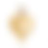 1 breloque coeur - acier inoxydable - métal doré