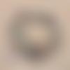 Lot de 100 perles heishi - rondelles en pâte polymère - 6 mm - tons marron - bordeaux - beige