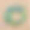 Lot de 100 perles heishi - rondelles en pâte polymère - 6 mm - jaune - vert