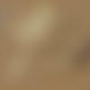 1 breloque pointe - cône - métal doré