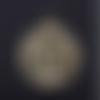 1 breloque arbre - coeur - acier inoxydable - métal doré