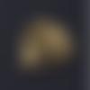 1 connecteur arbre - coeur - acier inoxydable - métal doré