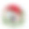 Transfert thermocollant - fillette champignon - 12.5 cm x 12 cm