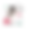Transfert thermocollant - fillette cute little girl - 20 x 20 cm