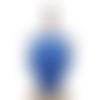 1 col - encolure - plastron - dentelle - bleu