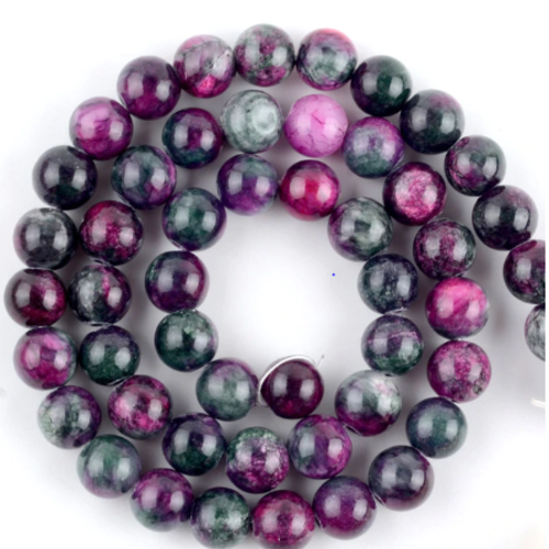 Perle ronde persian jade - lot de 10 - 6 mm - p1150