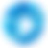 Perle ronde agate bleue - lot de 10 - 6 mm - p1115