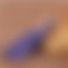 1 pompon soie parme - 8 cm
