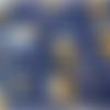 1 coupon de tissu renard - nuage - ourson - fond marine - 50 x 80 cm