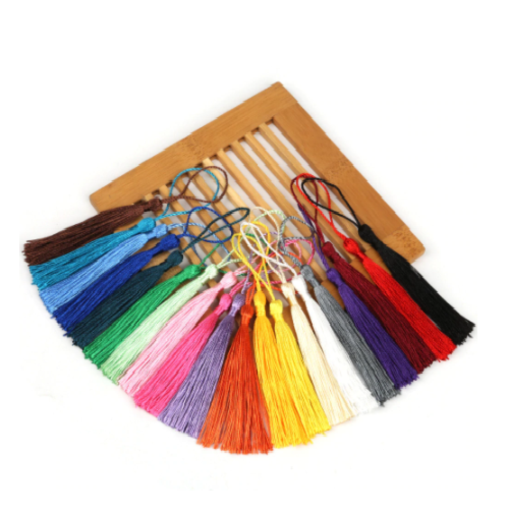 Lot de 32 Pompons Soie Multicolore - 8 cm