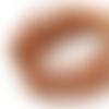 1 m de cordon cuir - couleur liège - 3 mm