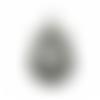 1 support cabochon à customiser - couleur argenté