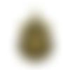 1 support cabochon à customiser - couleur bronze