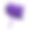 Ruban élastique plat - violet - 6 mm